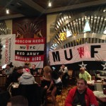 Moscow reds flags