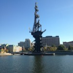Statue rising from the river